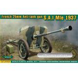 Французская противотанковая пушка 25 мм SA Mle 1937 (ACE72522) Масштаб:  1:72