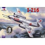 Истребитель-перехватчик И-216 / Alekseyev I-216 (AMO72237) Масштаб:  1:72