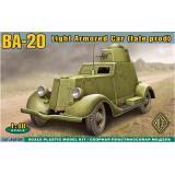 Легкий бронированный автомобиль БA-20 (ACE48109) Масштаб:  1:48