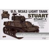 Легкий танк M3A3 (AF35053) Масштаб:  1:35