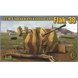 Немецкое 20-мм зенитное орудие Flugabwehrkanone 38 Flak 38 (ACE48103) Масштаб:  1:48