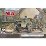 Противотанковая  105 мм пушка M5 на лафете M6 (AF35181) Масштаб:  1:35