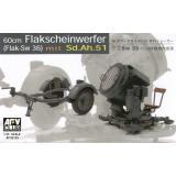 Прожектор GERMAN SW-36 SERCHLIGHT/WITH Sd.Ah.51 TRAILER (AF35125) Масштаб:  1:35