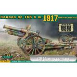 Пушка Cannon de 155 C m.1917 (деревянные колеса) (ACE72543) Масштаб:  1:72