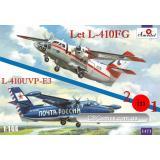 Самолеты Let L-410FG и L-410UVP-E3 (2 модели в комплекте) (AMO1471) Масштаб:  1:144