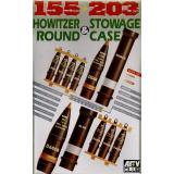 Снаряды, укупорка, ящики для 105/203mm HOWITZER (AF35017) Масштаб:  1:35