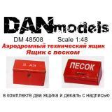 Аэродромный технический ящик, ящик с песком (DAN48508) Масштаб:  1:48