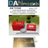 Аэродромный технический ящик, ящик с песком, ящик для иструмента (DAN72508) Масштаб:  1:72
