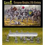 European knights, 15th century (CMH091) Масштаб:  1:72