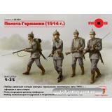 ICM35679  German Infantry (1914), (4 figures)