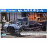 Немецкий легкий танк Pzkpfw.I Ausf.F (VK1801), ранняя версия (HB83804) Масштаб:  1:35
