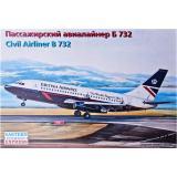 Пассажирский авиалайнер Б732 (EE14469) Масштаб:  1:144