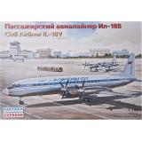 Пассажирский авиалайнер ИЛ-18В (EE14466) Масштаб:  1:144