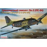 Пластиковая модель транспортного самолета ЛИ-2 (ПС-84) (EE14430) Масштаб:  1:144