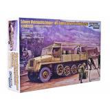 Полугусеничный грузовой траспортер sWS и 5 солдат (GWH-L3512) Масштаб:  1:35