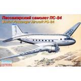 Сборная модель пассажирского самолета ПС-84 (EE14431) Масштаб:  1:144