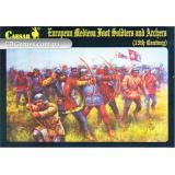 Средневековые европейские пехотинцы и лучники 15-го века (CMH088) Масштаб:  1:72