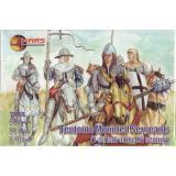 Тевтонские сержанты верхом, 1 половина XV века (MS72053) Масштаб:  1:72