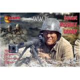 WWII Soviet assault group (MS72012) Масштаб:  1:72