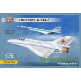 Экспериментальный самолет МиГ-21И (А-144-1) Аналог (первый прототип) (MSVIT72003) Масштаб:  1:72