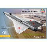 Экспериментальный самолет МиГ-21И (А-144-2) Аналог (второй прототип) (MSVIT72004) Масштаб:  1:72