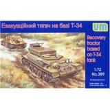 Эвакуационный тягач на базе T-34 (UM389) Масштаб:  1:72