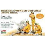Фигурки: Расчет к противотанковой пушке Ordnance QF 2-pounder (VUL-56002) Масштаб:  1:35
