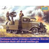 ГАЗ-ААА с счетверенной зенитной установки с пулеметом