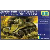 Легкий танк БТ-7 (1935) (UMT310) Масштаб:  1:72