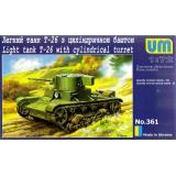 Легкий танк Т-26 с цилиндрической башней (UMT361) Масштаб:  1:72