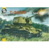 MW7210 T-34-85 NVA type 63 Soviet WWII medium tank (MW7210) Масштаб:  1:72