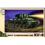 Пластиковая модель советского огнеменого танка КВ-8 (PST72015) Масштаб:  1:72