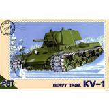 Сборная модель советского танка КВ-1 (PST72012) Масштаб:  1:72