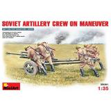 MA35081  Soviet Artillery Crew on Maneuver