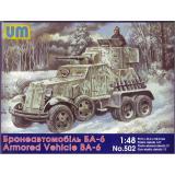 Советский бронированный автомобиль БА-6 (UM502) Масштаб:  1:48