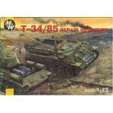 Советский ремонтно-эвакуационный тягач на базе танка T-34-85 (MW7211) Масштаб:  1:72