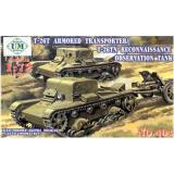 T-26Т бронированный транспортер / T-26ТН разведывательный танк (UMT404) Масштаб:  1:72