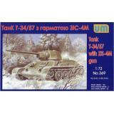 Танк T-34/76-57 с пушкой ЗИС-4 (UM369) Масштаб:  1:72