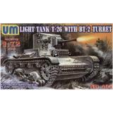 UMT405 T-26/BT-2 Soviet light tank (UMT405) Масштаб:  1:72