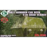 UMT608 OB-3 armored railway car with T-26 turret (UMT608) Масштаб:  1:72