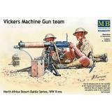 Vickers Machine Gun team, North Africa Desert Battle Series, WW II era (MB3597) Масштаб:  1:35