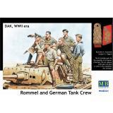Фигурка Роммела с танковым экипажем (MB3561) Масштаб:  1:35