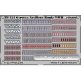 Фототравление 1/35 цветная, знаки отличия немецких артилеристов периода ВОВ (EDU-TP521) Масштаб:  1:35
