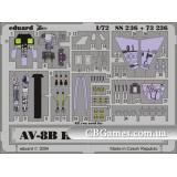 Фототравление 1/72 AV-8B Харриер II+ (цветная, рекомендовано для Hasegawa) (EDU-73236) Масштаб:  1:72