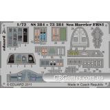 Фототравление 1/72 Си Харриер FRS1 (цветная, рекомендовано для Airfix) (EDU-SS384) Масштаб:  1:72