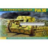Германская 7.5cm противотанковая пушка Pak.50 (ACE72246) Масштаб:  1:72