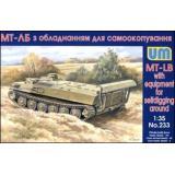 Гусеничный транспортер МТ-ЛБ (UM233) Масштаб:  1:35
