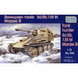 Истребитель танков Sd.Kfz.138 M Мардер III (UM344) Масштаб:  1:72