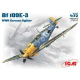 ICM72131  Messerschmitt Bf-109 E3 WWII fighter