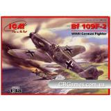 ICM48102  Messerschmitt Bf-109F2 WWII fighter